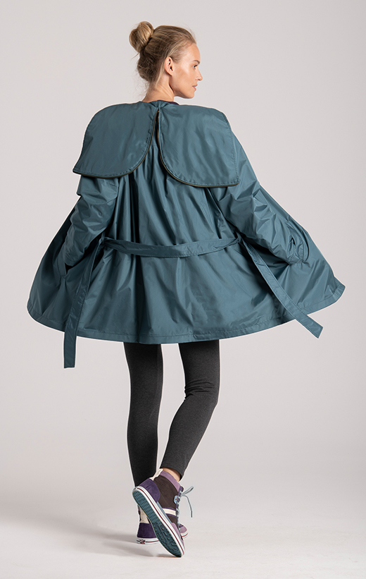 coat womens recycled fabric hood