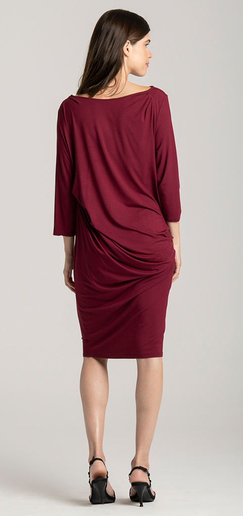 dress red bamboo jersey