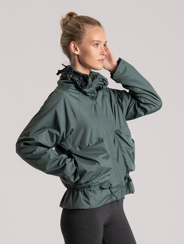 jacket green recyceld fabric womens