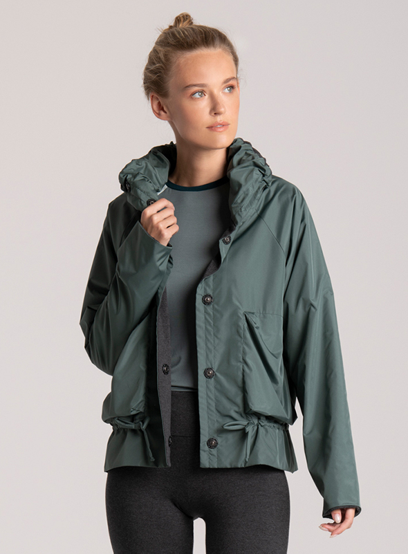jacket green womens