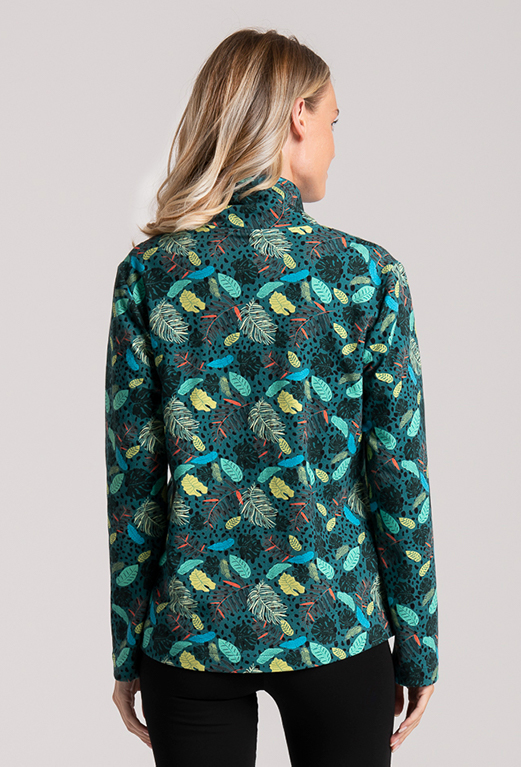 jacket print palms cotton