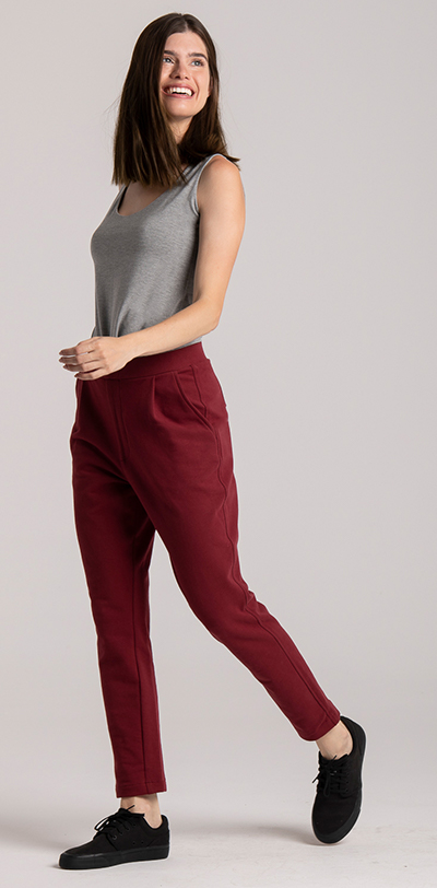 sweatpants red french terry