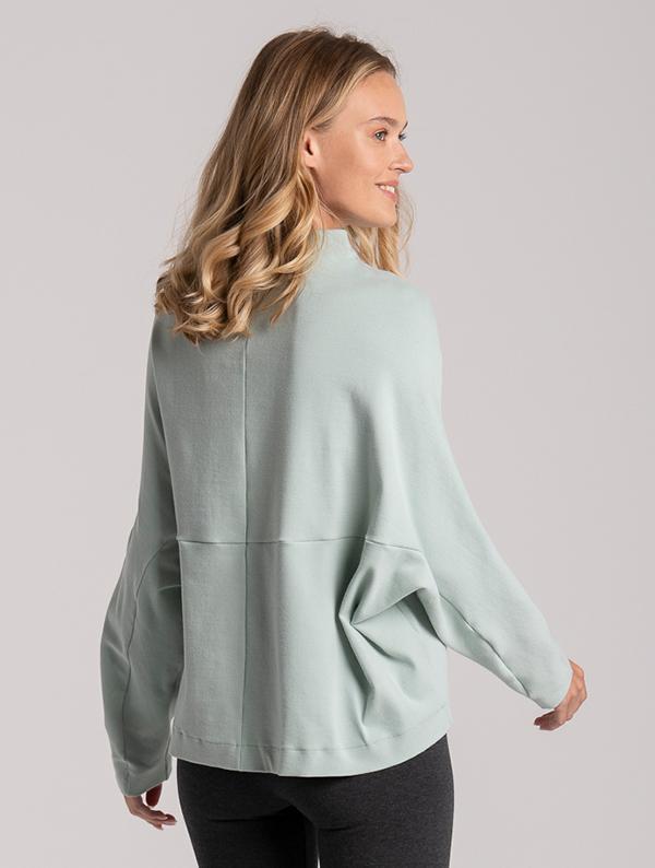 sweatshirt modern shape mint cotton