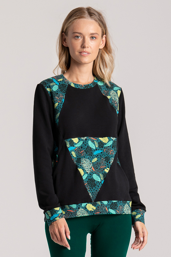 sweatshirt palm print