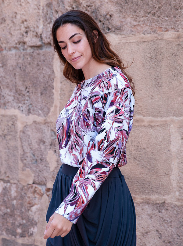 orchid print top 2