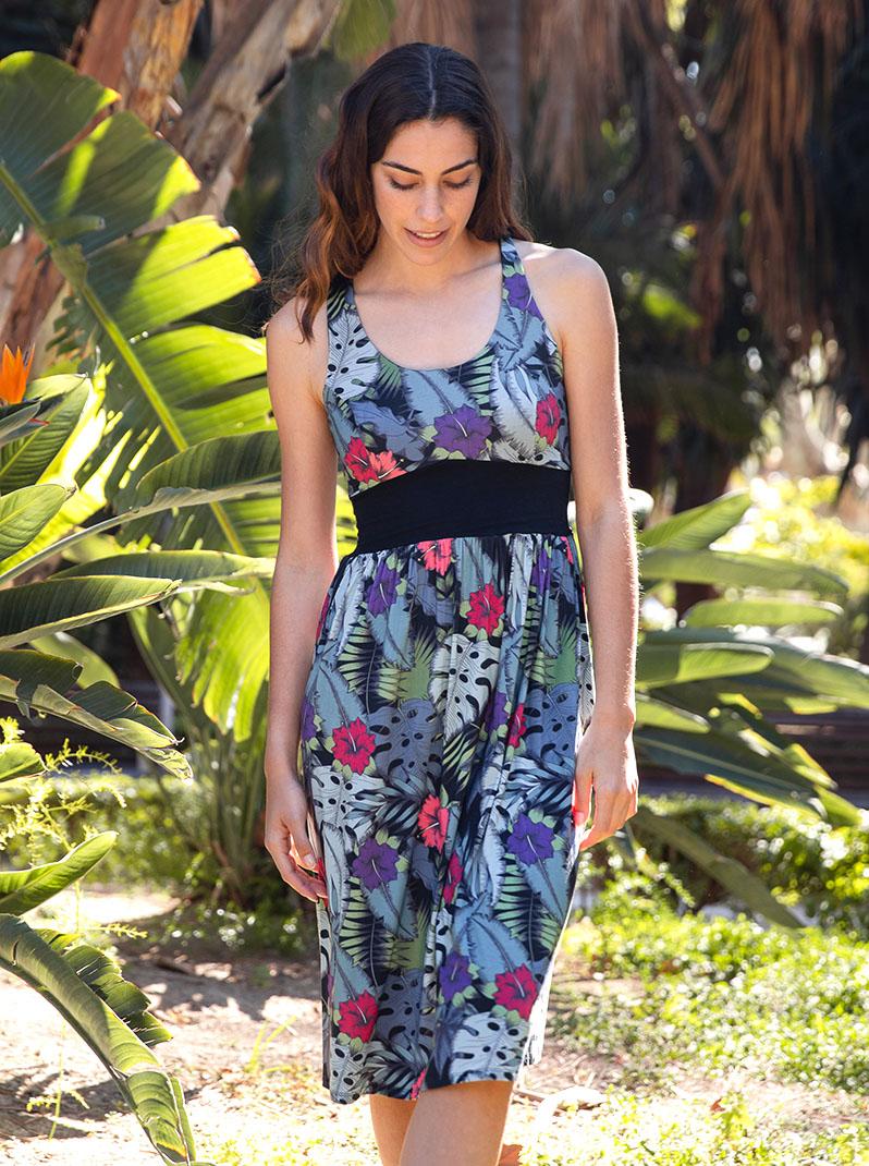 tropical print dress 1