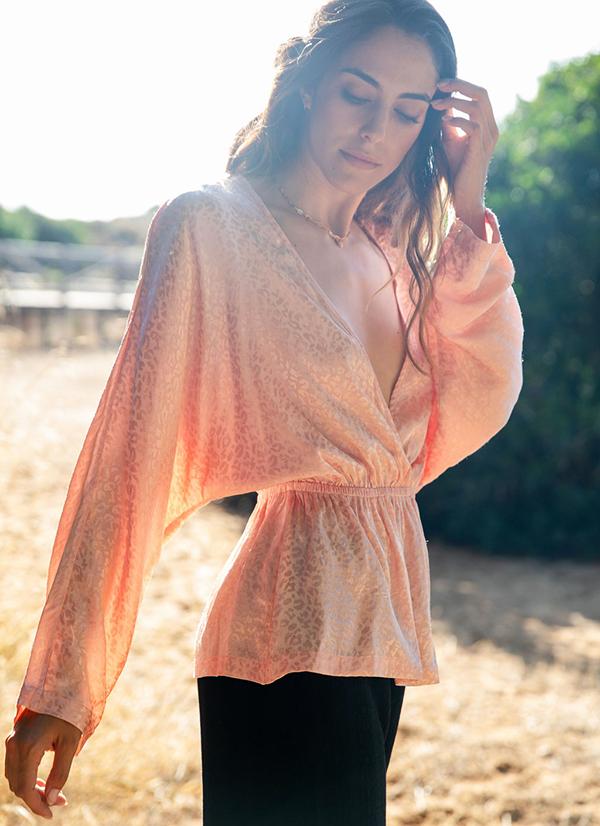 pink leopard blouse